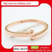 italiano de acero inoxidable joyería de oro rosa pulsera para mujer pulsera de acero