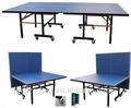 25mm mesa de tenis de mesa, mesa plegable& la mesa móvil, mesa de ping-pong, de tenis de mesa, tenis de mesa