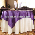 100% mantel de poliéster/cubierta de tabla para restaurante de banquetes