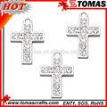 nueva venta al por mayor de productos de metal de la cruz baratos joyería colgante cruz colgante