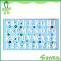 21cm alfabeto plástico regla de la plantilla