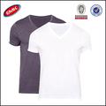 atacado mens camisetas em branco baratos camisetas em massa lisa com decote em v feitas na china