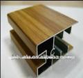 grano de madera perfil de aluminio para ventanas
