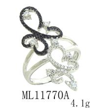 micro anillo ladies'stylish ajuste plata