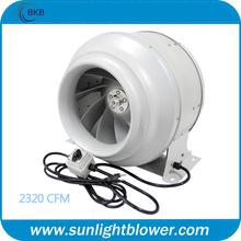 hidroponía 12 pulgadas en línea máxima de cuarto de baño del ventilador del ventilador silencioso
