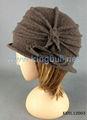 nueva de mujer de invierno sombrero cloche