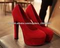 2014 nuevo rojo sexy señoras tacones