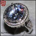 china ebay chunky joyería con chapado de rodio anillos de piedras preciosas