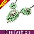 Colgante de acrílico verde de moda nuevo diseño vender derectly alta calidad collares de cadenas gruesas