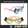 moda rana de dibujos animados espejo de plástico doblado gafas de sol uv400 promoción gafas de sol de los niños
