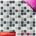 pared negro y gris y de color beige material de mosaico de vidrio decorativo