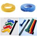 Las ataduras de cables de nylon colorido velcro, bridas de velcro de nylon