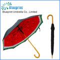 auto recto abierto completo deimpresión en elinterior de doble paraguas de tela