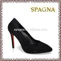 chaussures de dame à talons hauts partie chaussures dessus avec le diamant