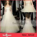 2014 la nueva llegada Vestido de tul con lentejuelas y vestido de boda del A-line de la perla