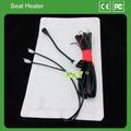 A fibra de carbono aquecedor de assento com alta/baixo led interruptor de controle portátil do assento de carro aquecedor 12v