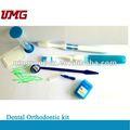 Kit dental de ortodoncia con cepillo de dientes 8 en 1, suministros dentales