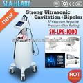 ¡Venta caliente! Cavitación ultrasónica + Bipolar RF + vacío Presión Negativa + Skin Rodando la aprobación del CE
