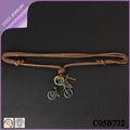 collares vintage largo hecho a mano de cuero cruz para hombre collar de la bicicleta