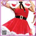 Vestido de Navidad al por mayor de FC047 de diseño de moda Caramelo Santas Girl Costume