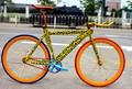 china bici fija del engranaje marco de leopardo bicicleta
