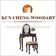 Negro vanidad conjunto por kuncheng mueblesdeldormitorio mesa de maquillaje/maquillaje tocador con espejo