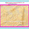 malla de tela de color amarillo oscuro diseño de la tela brillante para ladys falda de mesa