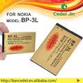 Batería recargable bp-3l de oro de la batería para nokia 603/610/610c/710