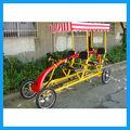 cuatro ruedas de bicicleta surrey cuadriciclo bicicleta
