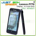 Nuevo! Lenovo p770 smartphone 6577 mtk de doble núcleo android os 4.1.1 4.5 ips pulgadas gsm 3g doble sim tarjeta de 1gb ram wifi de doble cámara.