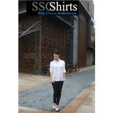 2014 100% de moda casual blusa de lino para blusa de seda de los modelos