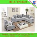 moderna sala de estar de moda más nuevo 2014 tela sofá de la esquina en forma de l sofá de