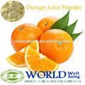 100% natural de fruta en polvo tange de jugo de naranja en polvo, de color naranja de la fruta en polvo
