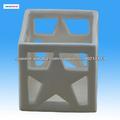 titular de la luz de té de cerámica en forma de estrella