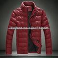 para hombre de la chaqueta de cuero acolchado