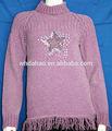 estrella de la moda cáscara modelo de nuevo diseño para suéter de las señoras