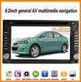 Coches reproductor de DVD / 6,2 pulgadas de pantalla táctil 2 Din Car DVD Player con GPS / TF / FM / AM / USB