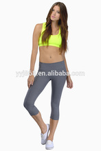 Poliéster& spandex cosecha de mujer pantalones ropa de diseño de moda