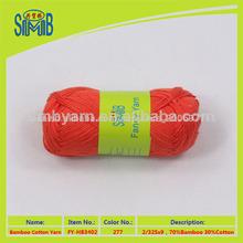 hilados de algodón de bambú