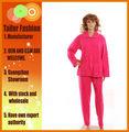 pijamas 100% poliester forro polar para las mujeres con el patrón de trituración