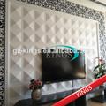 decorativos 3d tablero de la pared de los reyes paintable a prueba de fuego