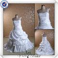 jj0098 um ombro tafetá de saia big super plus size wedding vestidos padrões