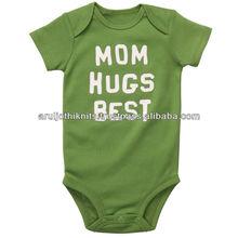 bebé corto de manga de alta densidad mameluco impreso