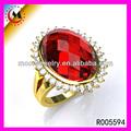 lleno de oro anillo de la joyería al por mayor 18k ruby ring diseños para los hombres