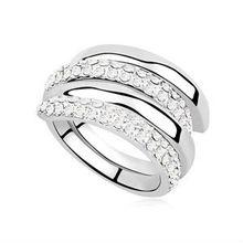anillo de bodas de cristal de alta calidad