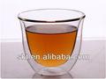 200ml resistente al calor de doble pared de vidrio taza de café