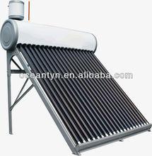 nonpressuirzed de acero galvanizado de la energía solar calentadores
