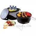 Bbq com saco térmico, carvão para churrasco conjunto, churrasco