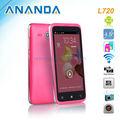 4.5 pulgadas MTK6572 dual core de doble sim teléfono celular androide L720