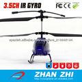 Control de la hoja de metal helicóptero infrarrojo del rc 3CH construido en giroscopio